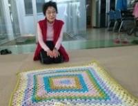 編み物を編んで、立派な大作ができました!